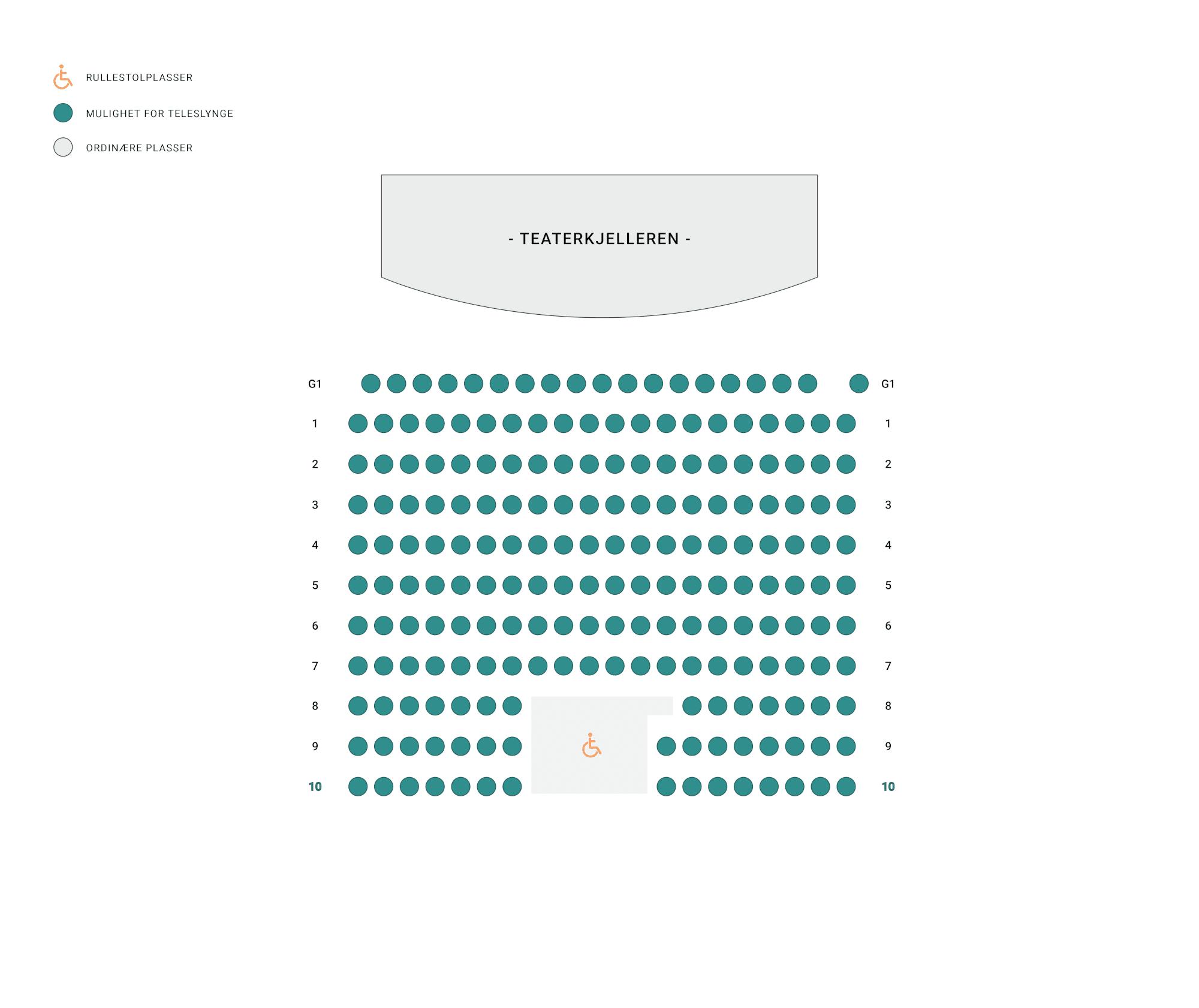 Salkart for Teaterkjelleren