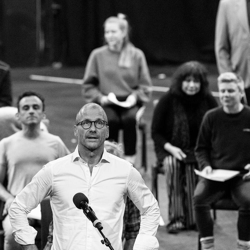 Teatersjef Stefan Larsson under åpningsmarkeringen 2020 foto